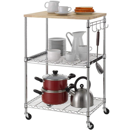 Mobile Kitchen Carts Provide Extra Counter Space, Best to ...
