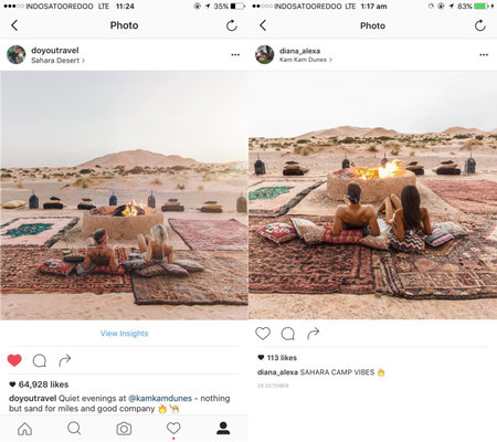 Travel Blogger Gypsea Lust Copied By Social Media Fan While