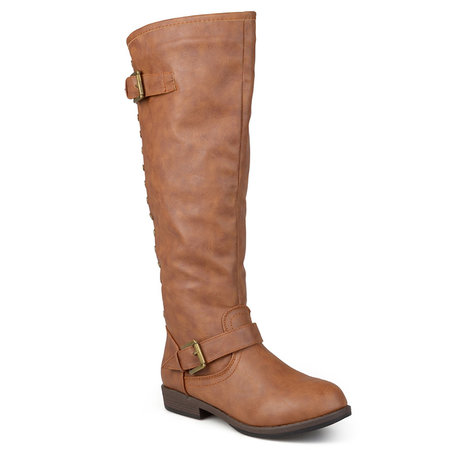 2c4b15bb8df6 These shearling-lined boots slip over calves with a 17-in circumference
