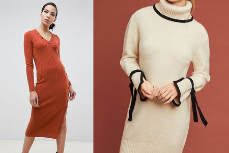 2925c77f60 10 Sweater Dresses That Are Just as Warm as They Are Stylish