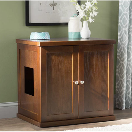 Clementine Wooden Litter Box Cabinet