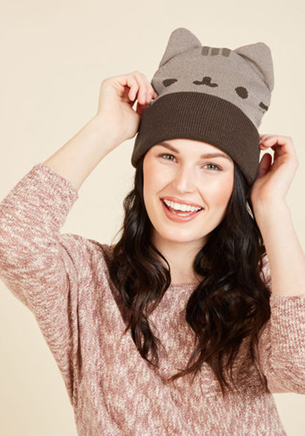 9b9d8296a8c Pusheen Your Buttons Hat. Every cat lover knows and loves Pusheen
