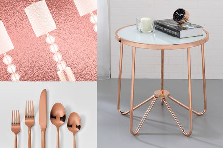 Rose Gold Home Decor Accents Furniture Accessories Housewares Style Living