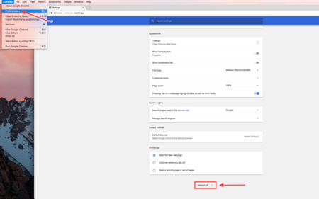 Chrome Browser Settings | Bravo TV Official Site