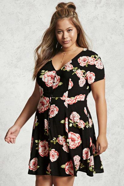 dcc513c5453 Forever21 Plus Size Floral Dress