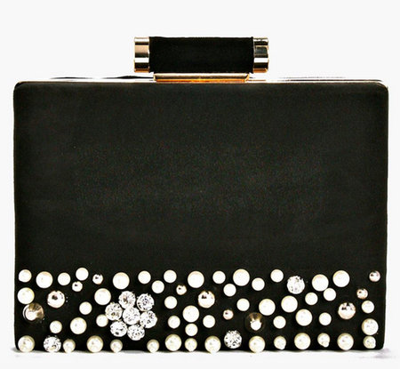 Mae Boutique Pearl Velvet Box Clutch Bag 5d721f7f583ca