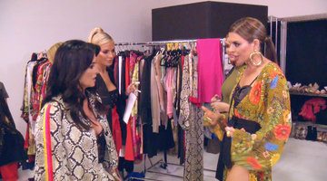 The Ladies Prepare to Walk in Kyle Richards' Fashion Show
