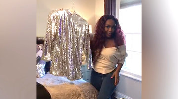 "Quad Webb Shows Off Her At-Home ""Quarantine Couture"""