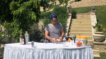 Tom Schwartz Sets up the Bar at His Engagement Party