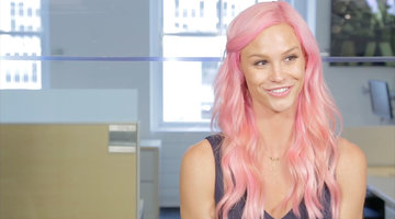 Meghan Dishes on New Pink 'Do