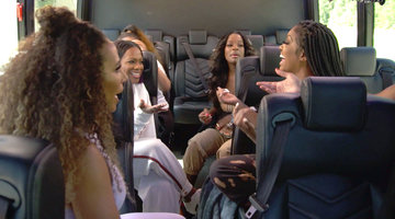 Kenya Moore Is on a Private Jet While the Other Ladies Sweat It Out on a Hot Bus?!