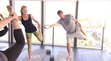 Shep and Kathryn Do Yoga Together