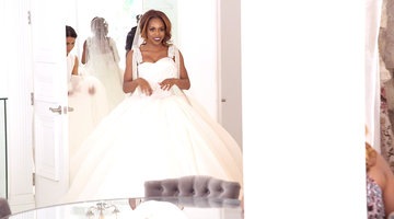 Candiace Dillard Looks Stunning in Her Wedding Dress