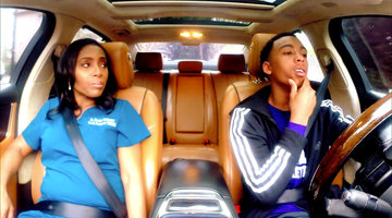 Dr. Simone Whitmore Teaches Her Son How to Drive
