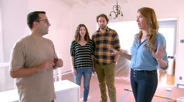 Designer Alex Gives Genevieve Gorder a Rundown of His Design Plan