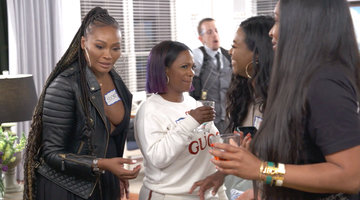 Kenya Moore Surprises (and Scares!) the Ladies With a Mystery Night