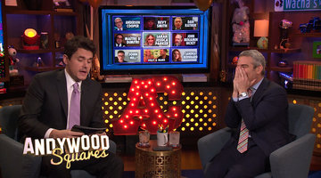 Andy Cohen & John Mayer Play Andywood Squares!
