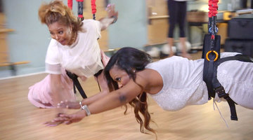 The Real Housewives of Atlanta Try Aerial Pilates