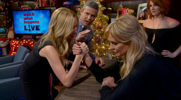 Taylor and Kristin Arm Wrestle
