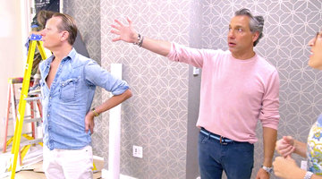 "Why Does Carson Kressley and Thom Filicia's Client Have a ""Look of Terror""?"