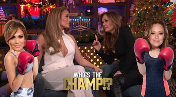 Jennifer Lopez Shades Leah Remini's Cooking