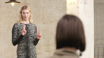 Karlie Kloss Tells the Designers They're Going on a Trip