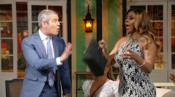 Did Candiace Dillard's Mother Just Hit Andy Cohen in the Face With Her Purse?!