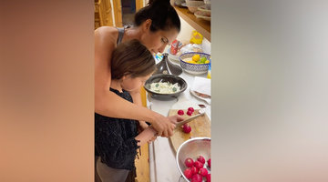 Padma Lakshmi and Krishna's Mother-Daughter Cooking Lesson: How to Make Chicken Tagine