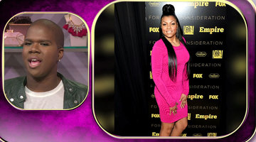 Taraji Springs Forward in a Fuschia Frock!