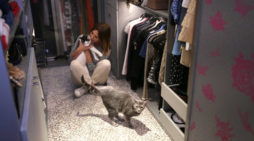 Carole Radziwill's New Closet Is a Cat Lover's Dream
