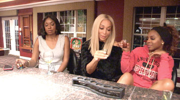 Karen Huger Throws Back Shot After Shot