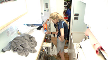 Jennifer Howell Struggles with Laundry