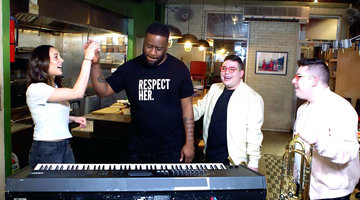 Pianist Robert Glasper and the Potash Twins Jam out After a Delicious Meal at Chef Leah Cohen's Restaurant