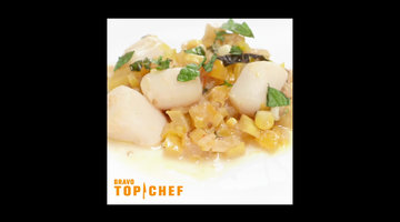 Top Chef Winning Recipe: Caponata and Poached Bay Scallops