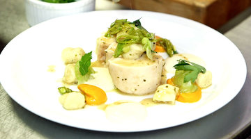 Poached Chicken Breast with Herbs and Miso