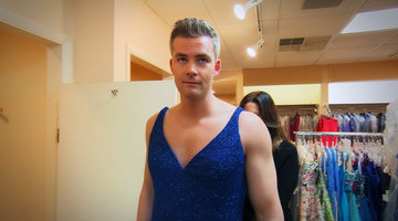 See Ryan Serhant Try on Prom Dresses