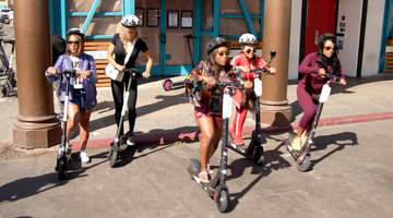 The Married to Med LA and Atlanta Ladies Scooter Around Venice Beach