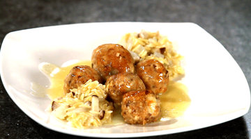 Re-Mastered Recipe: Catfish Meatballs with Orzo