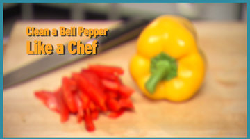 Clean Bell Peppers Like a Chef