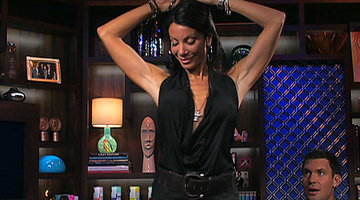 Danielle Staub Dances on a Table
