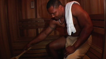 Ed in the Sauna