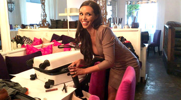 Scheana Packs Emergency Makeup Bag