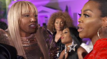 Nene Leakes and Kenya Moore Get Broken Up by Security at Kandi Burruss' Shower!