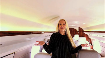 Go Inside Erika Girardi's Private Plane