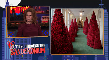 Sandra Bernhard on Melania Trump's Red Christmas Trees