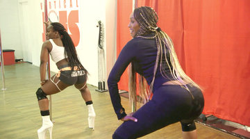 "Cynthia Bailey Gets a Private Lesson from a ""Twerk Technician"""