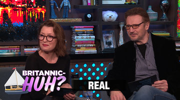 Lesley Manville & Liam Neeson Quiz Andy Cohen on British Slang