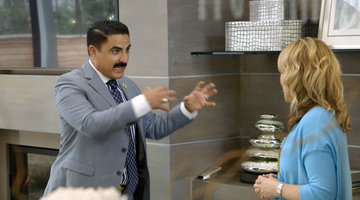 Reza Farahan Licks a Countertop