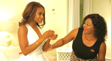 Candiace Dillard Gets Emotional Trying on Wedding Dresses