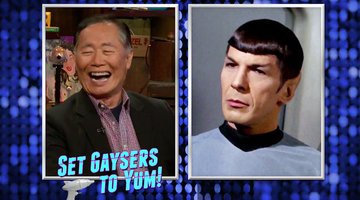 George Takei Sets His Gayser to Yum!